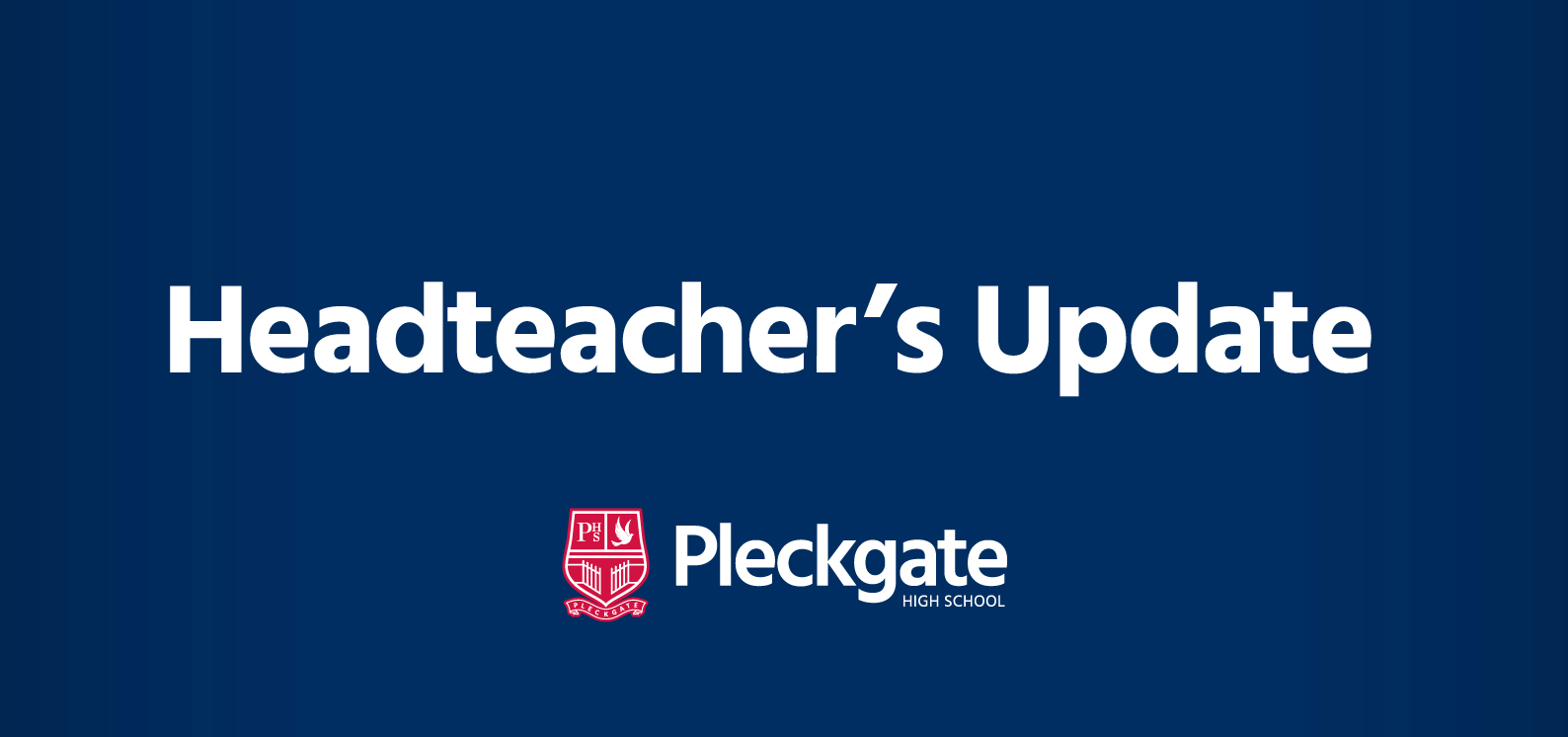 Headteacher's Update – December 2019