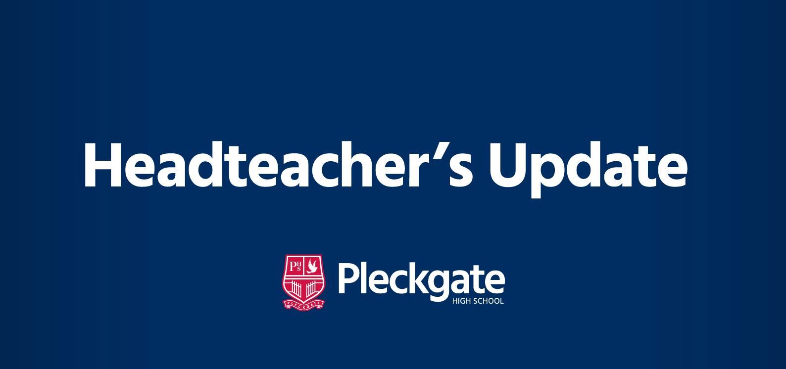 Headteacher's Update – April 2020